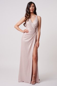 Forever Unique Wrap Maxi Dress With Thigh Split - Product List Image