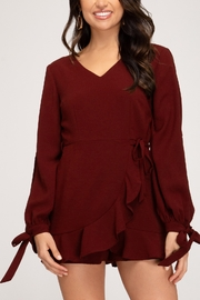 She + Sky Wrap Me Up Romper - Front cropped