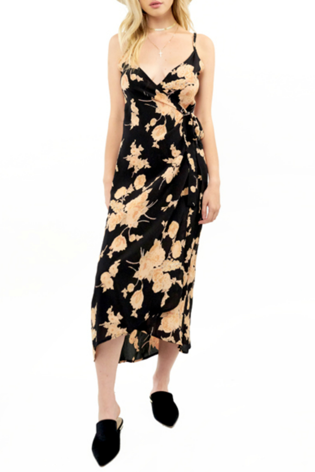 Saltwater Luxe Wrap Midi Dress - Main Image