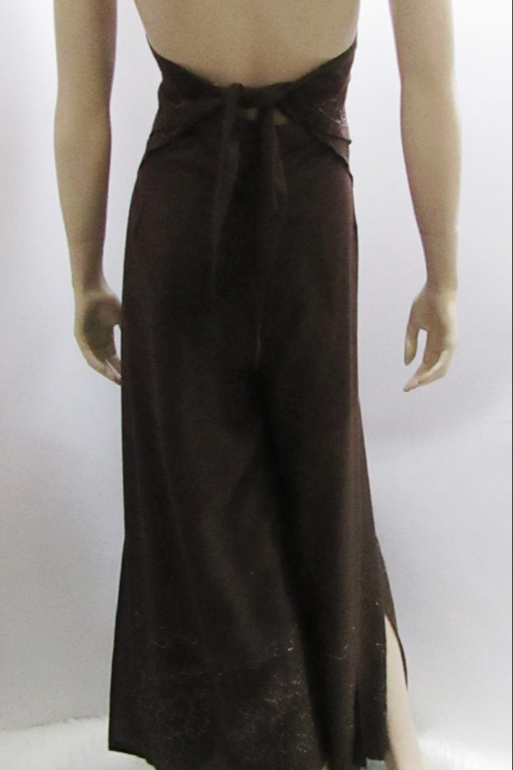 KIMBALS WRAP PANT SET in BROWN - Side Cropped Image