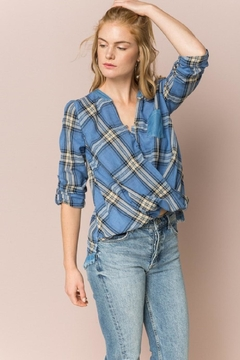 Hem & Thread Wrap Plaid Shirt - Product List Image