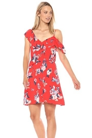 Cupcakes and Cashmere Wrap Ruffle Floral Print Dress - Product Mini Image