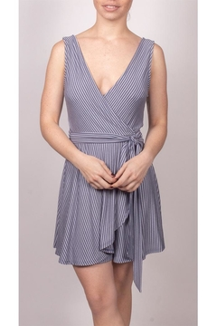Final Touch Wrap Striped Mini-Dress - Product List Image