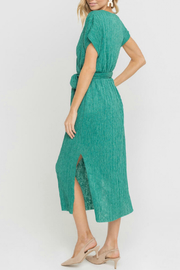 Lush  Wrap Style Belted Midi Dress - Front full body