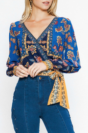 Flying Tomato Wrap Style Top - Front cropped