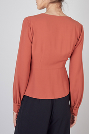 Do & Be Wrap Style Top - Front full body