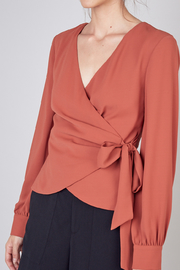 Do+Be Collection  Wrap Style Top - Front cropped