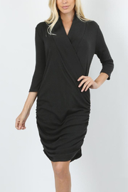 Zenana Wrap Sweater Dress - Product Mini Image