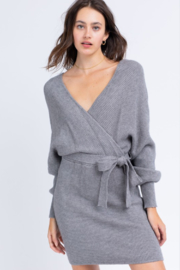 Le Lis Wrap Sweater Dress - Front cropped