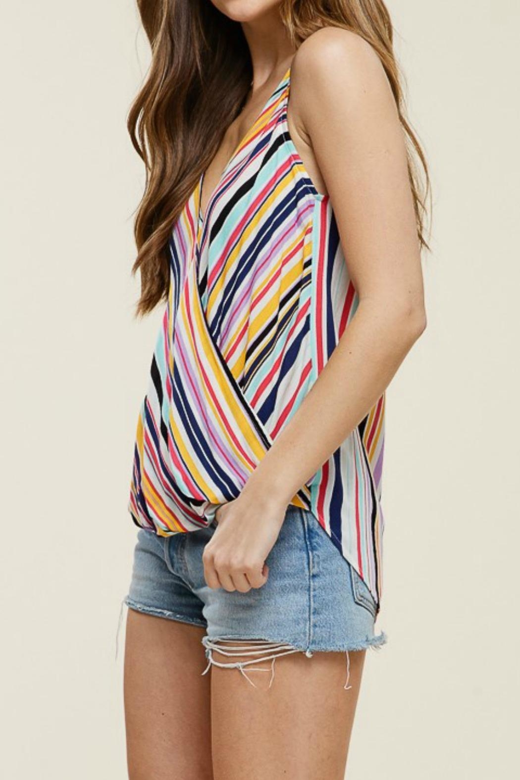 Staccato Wrap Tank Top - Front Full Image