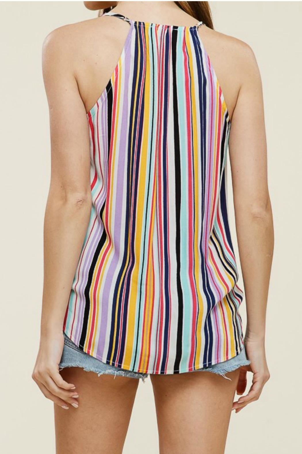 Staccato Wrap Tank Top - Back Cropped Image