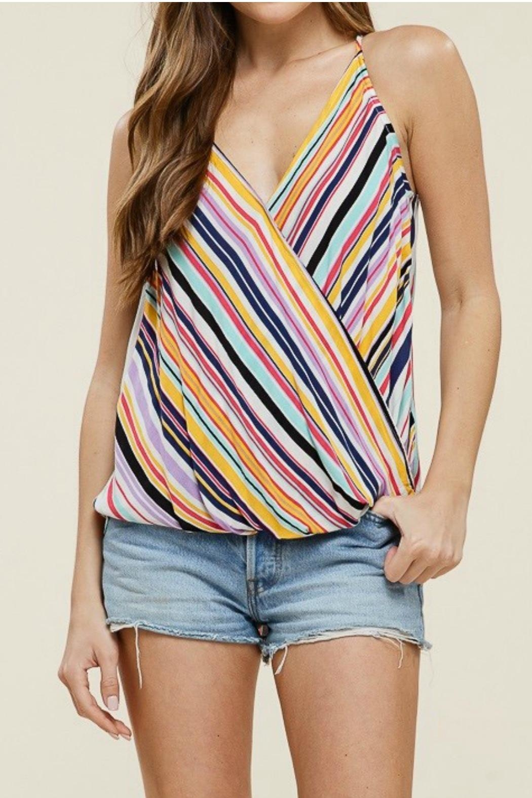 Staccato Wrap Tank Top - Main Image