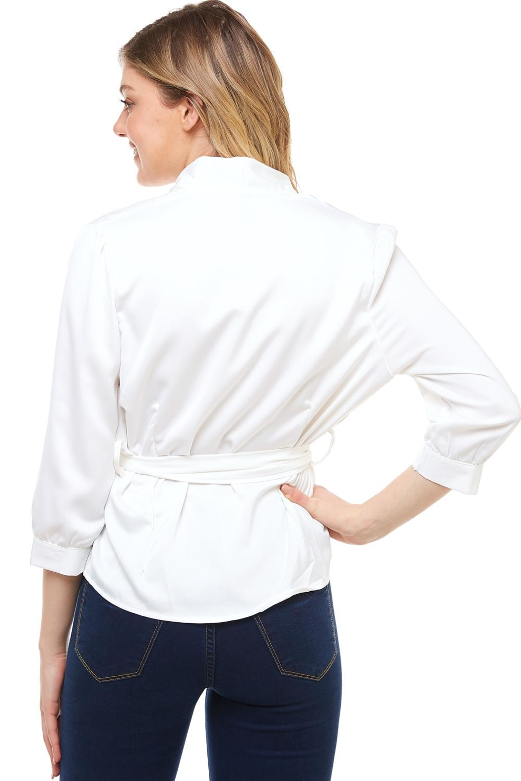 Venti 6 Wrap Tie Blouse - Side Cropped Image