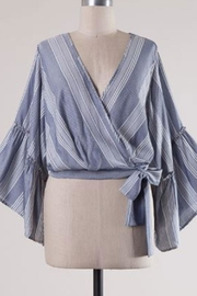 hummingbird Wrap Tier Top - Front cropped