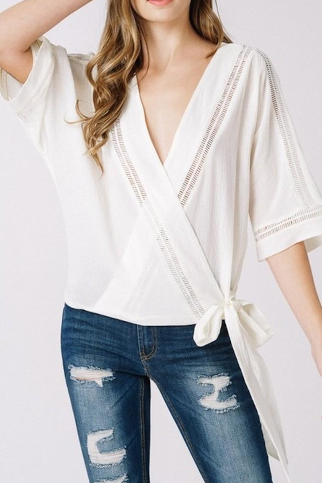 Listicle Wrap Top - Front Full Image