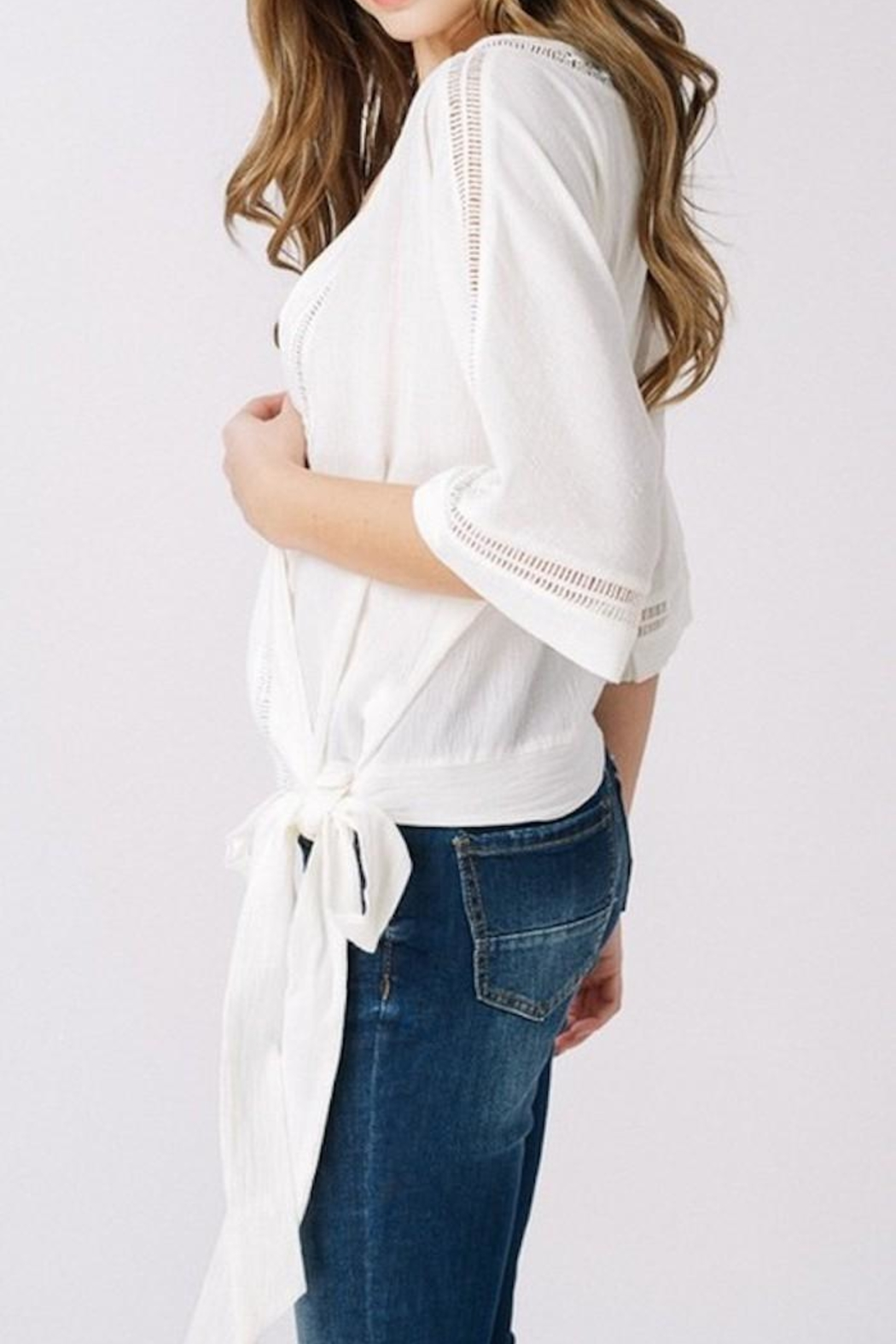 Listicle Wrap Top - Side Cropped Image