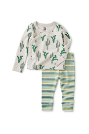 Tea Collection Wrap Top Baby Outfit - Product Mini Image