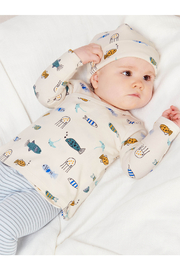 Tea Collection  Wrap Top Baby Outfit - Sea Life - Product Mini Image