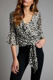 Red Haute Wrap Top Floral - Product Mini Image