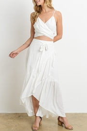 Charme U Wrap top/ ruffle skirt set - Product Mini Image