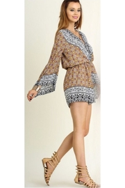 People Outfitter Wrap V-Neck Romper - Product Mini Image