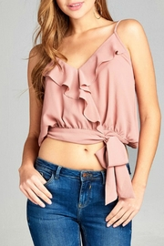 Active Basic Wrap Woven Top - Product Mini Image