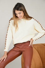 Molly Bracken Wrapped Fiber Sleeve Dolman Sweater - Product Mini Image