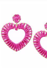 US Jewelry House Wrapped Heart Earrings - Product Mini Image