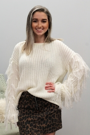 Hayden Wrapped In Tassels Sweater - Front cropped