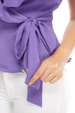 Do & Be Wrapped Ruffle Top - Alternate List Image