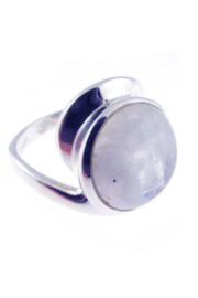 Crystal Earth Wrapped Style Moonstone Ring. - Product Mini Image