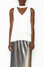 WREN & WILLA Choker V Neck Tank - Front full body