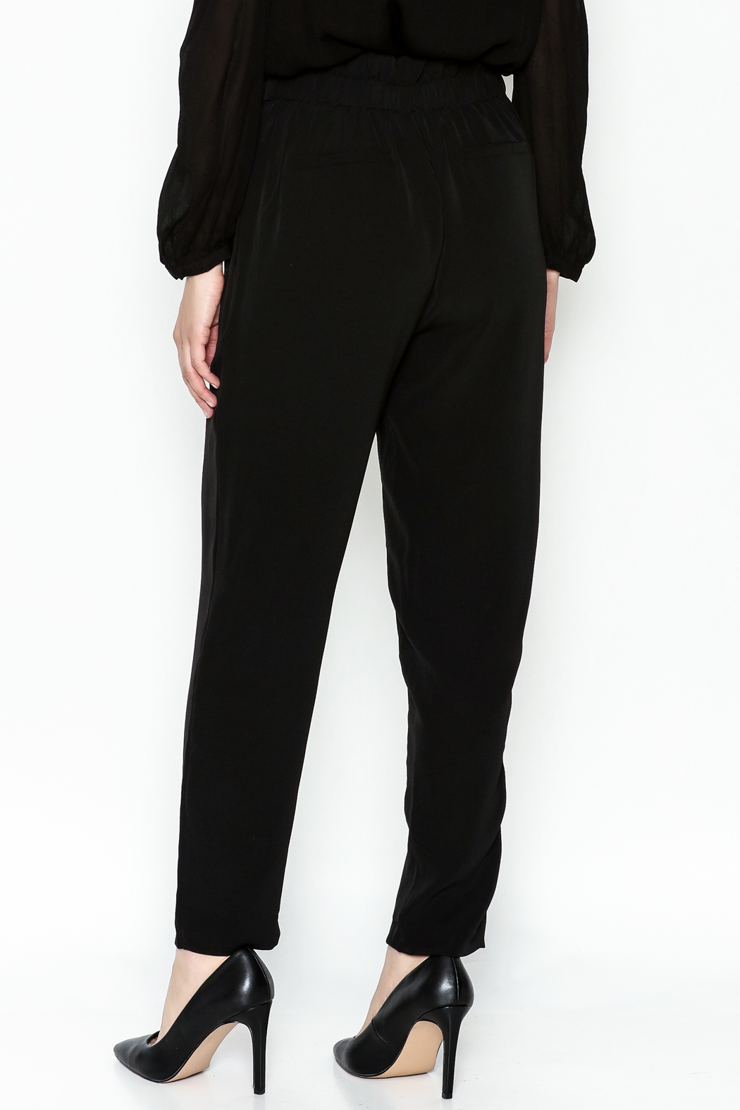WREN & WILLA Gold Button Pants - Back Cropped Image