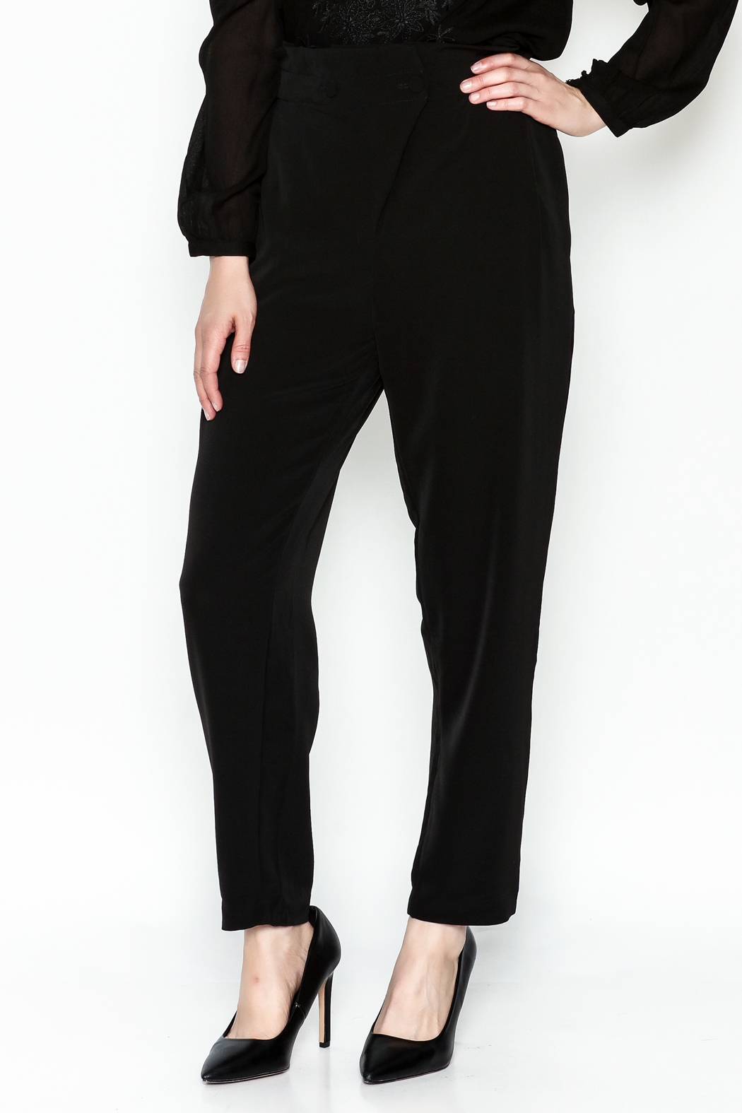 WREN & WILLA Gold Button Pants - Main Image