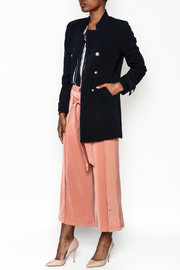 WREN & WILLA Gold Button Peacoat - Side cropped