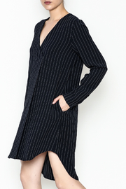 WREN & WILLA Long Sleeve Pinstripe Dress - Product Mini Image