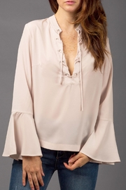 WREN & WILLA Belle-Sleeve Laced-Up Top - Product Mini Image