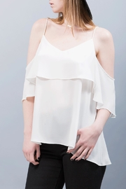 WREN & WILLA Cold Shoulder Layered Top - Product Mini Image
