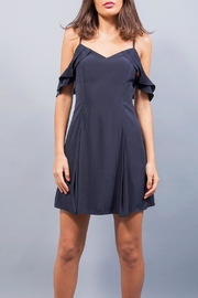 WREN & WILLA Cold Shoulder Pleated Dress - Product Mini Image