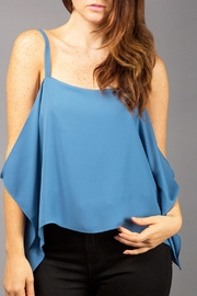 WREN & WILLA Draped Cold-Shoulder Top - Product Mini Image