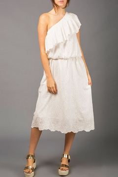WREN & WILLA One-Shoulder Eyelet Dress - Product List Image