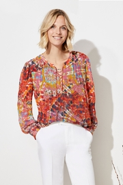 Ecru Wright top with Gather Details - Product Mini Image
