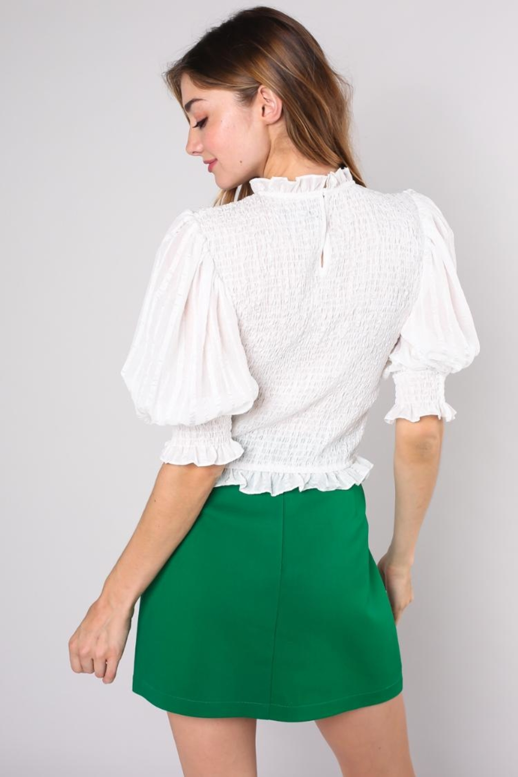 Do & Be Wrinkle Crop Top - Side Cropped Image