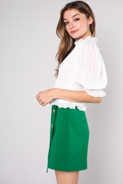 Do & Be Wrinkle Crop Top - Front full body