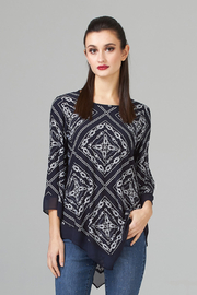Joseph Ribkoff  Wrinkle-Free Tunic, Rope Design - Front cropped