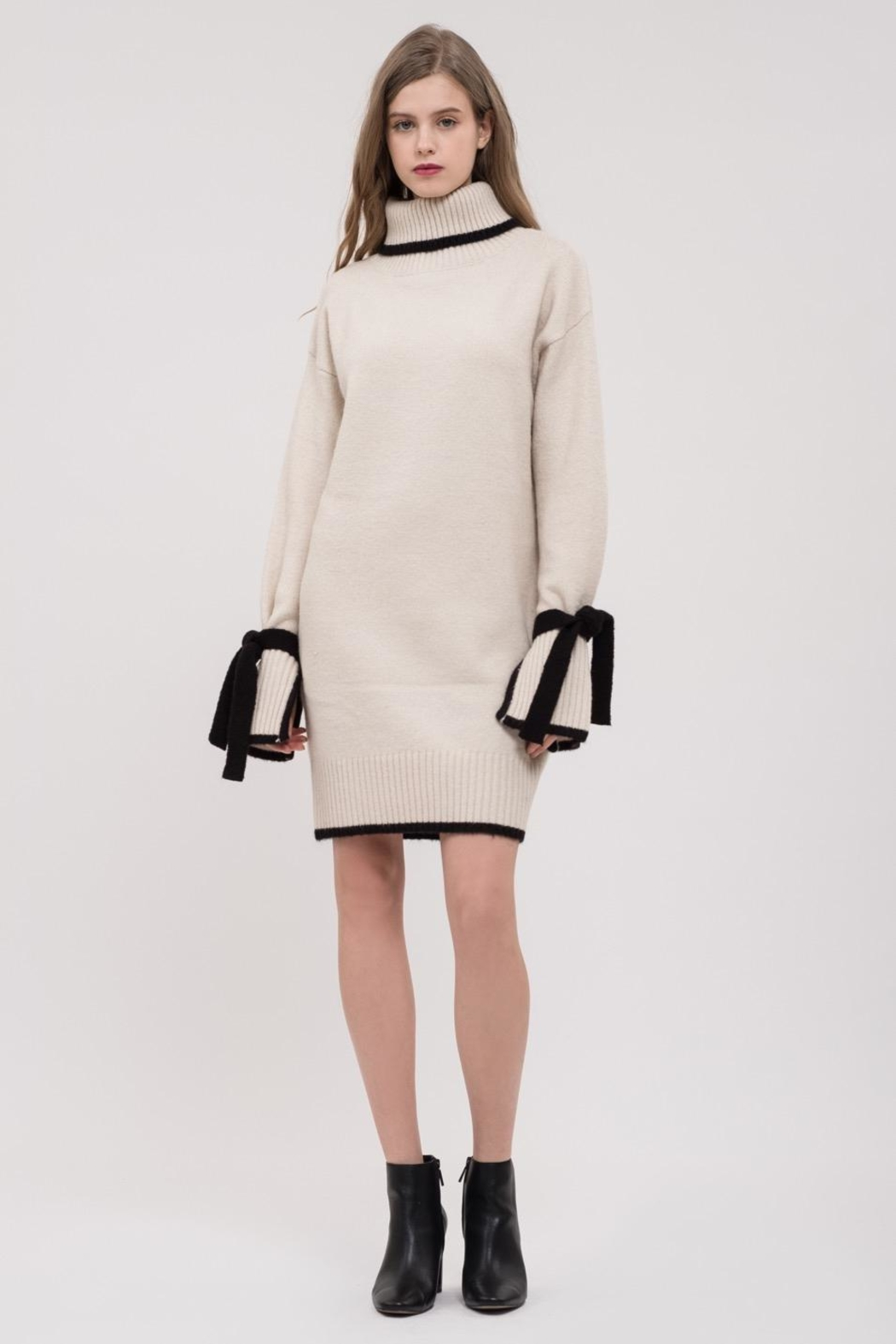 J.O.A. Wrist-Tie Sweater Dress - Main Image
