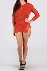 WTD Destroyed Sweater Top - Front cropped