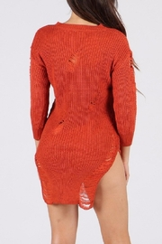 WTD Destroyed Sweater Top - Side cropped