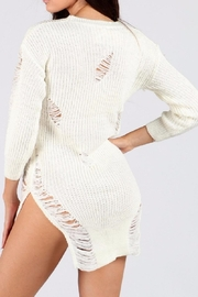 WTD Destroyed Sweater Top - Front full body