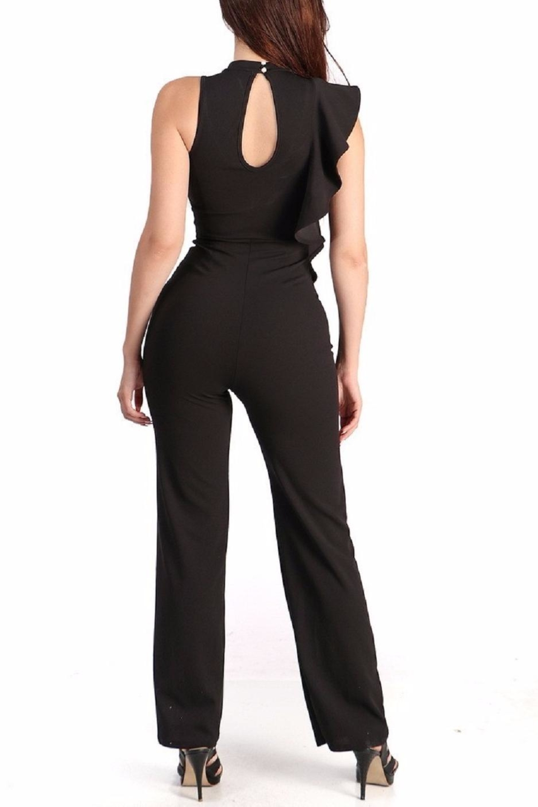 WTD Jumpsuit With Ruffles - Front Full Image